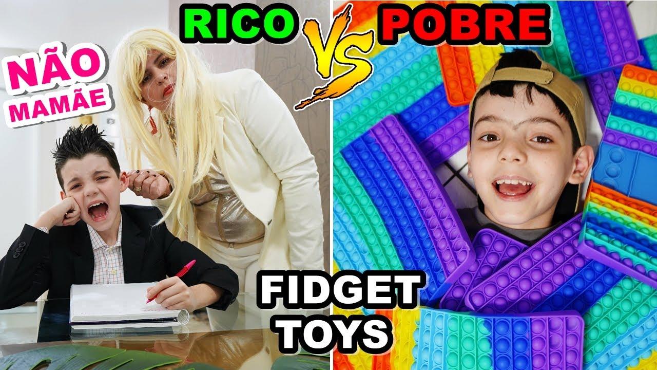 RICO VS POBRE FIDGET TOYS POP IT (Parte 3)
