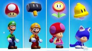 Super Mario Maker 2 - All Characters 3D World Power-Ups