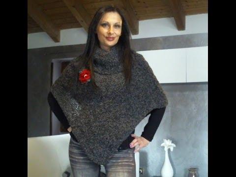 maglia tutorial come fare un poncho da donna semplicissimo 1 di 3 youtube. Black Bedroom Furniture Sets. Home Design Ideas