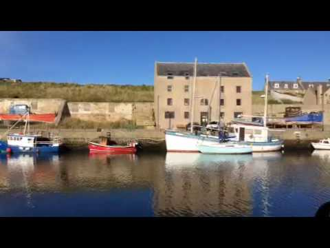Burghead Harbour, Moray. Scotland on a lovely sunny day.