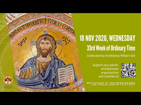 Catholic Weekday Mass Today Online - Wednesday, 33rd Week of Ordinary Time 2020