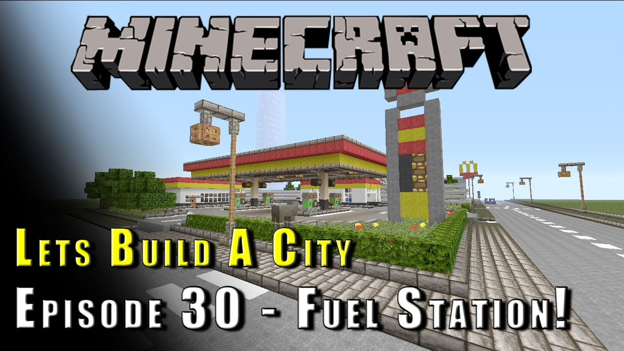 minecraft lets build a city petrol station e30 youtube. Black Bedroom Furniture Sets. Home Design Ideas