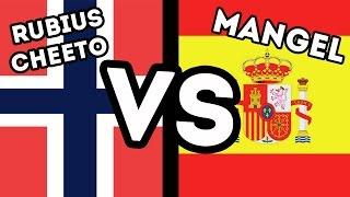 Españoles VS Noruegos - Mangel VS Cheeto-Rubius - FIFA