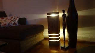 [DIY] Designer Lampe aus Holz