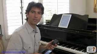 AirTurn and Virtual Sheet Music Viewer Application for iPad, iPhone and iPod Touch