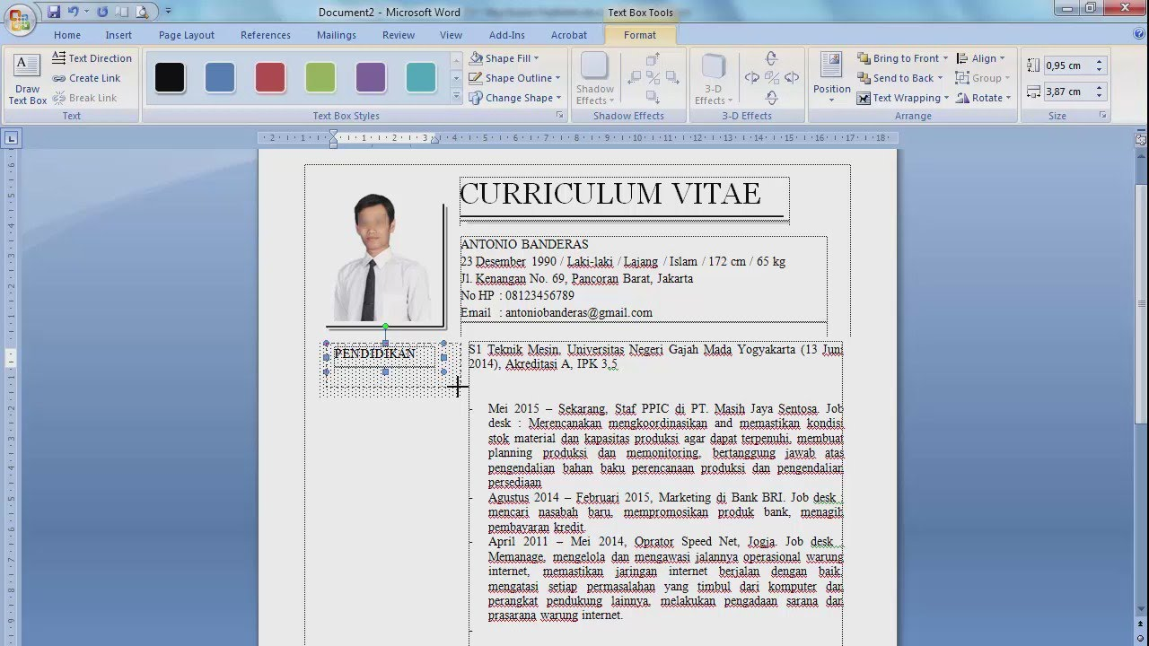 Membuat CV Yang Menarik Bagus dan Menjual - The Jobseeker ...