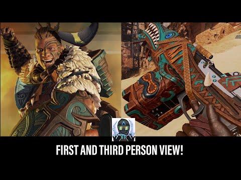 New Apex Legends Gibraltar Edition Legend Skin, Weapon Skin, Charm & Badge In First & Third Person!