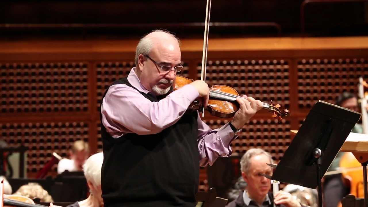 Glenn Dicterow Rehearsing Bartók in San Francisco, 05/14/2012