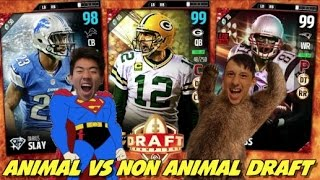 Animal vs non animal draft! insane game! madden 17 draft champions