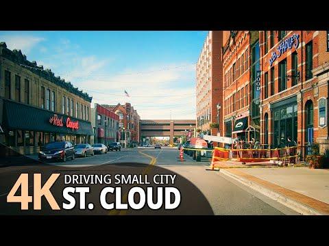 St.Cloud 4K60fps - Driving Small City - Minnesota, USA