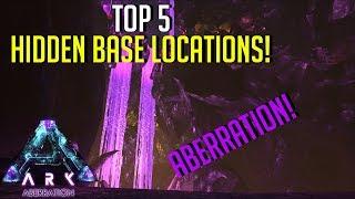 HIDDEN BASE LOCATIONS! NEW ABERRATION MAP   - Top 5 Hidden PvP Bases   ARK: Survival Evolved