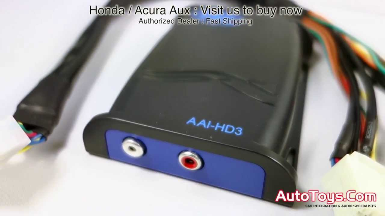 Honda Acura Auxiliary Ipod Adapter AAIHD3 HON03AUX by PIE PAC (HON