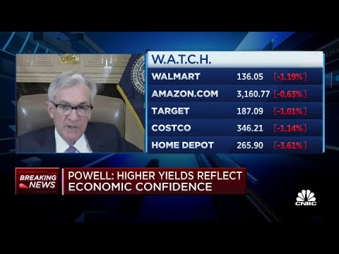 Fed chair Jerome Powell: Bond yields moving on expectations of economy returning to normal