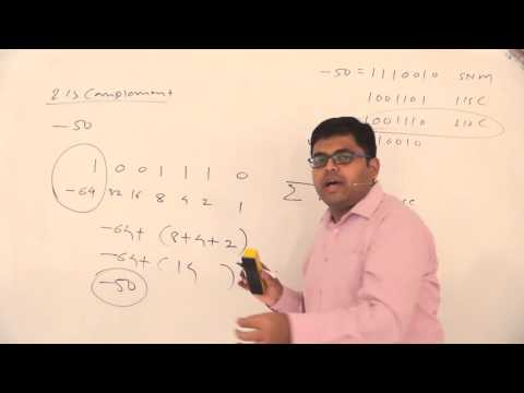 16. Example of Unsigned, Sign and magnitude, 1's complement and 2's complement