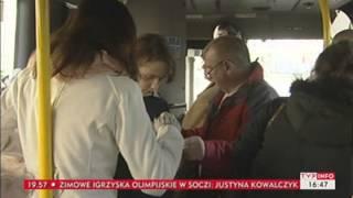 Kupiła droższy bilet niż powinna i... dostała mandat (Puls Polski TVP Info, 13.01.2014)