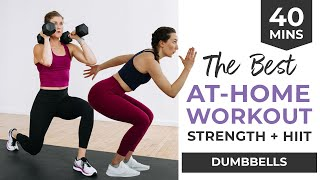 The BEST Home Workout for Women 40 Minute Strength HIIT with Dumbbells