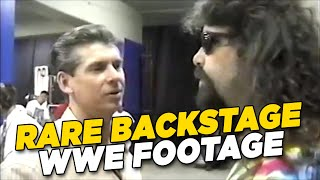 Rare Backstage Clip Of Mick Foley As Dude Love - WWE Unseen Footage