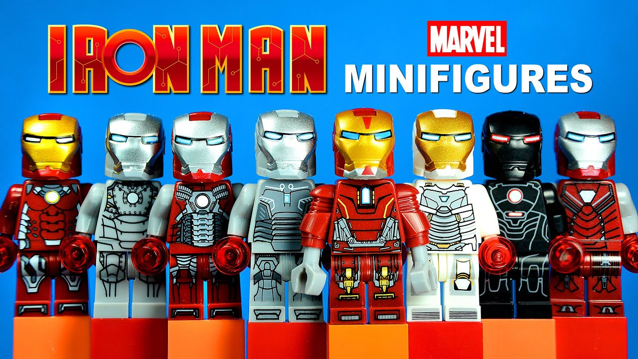 LEGO Iron Man 3: Suits of Armor KnockOff Minifigures Set 5 ...