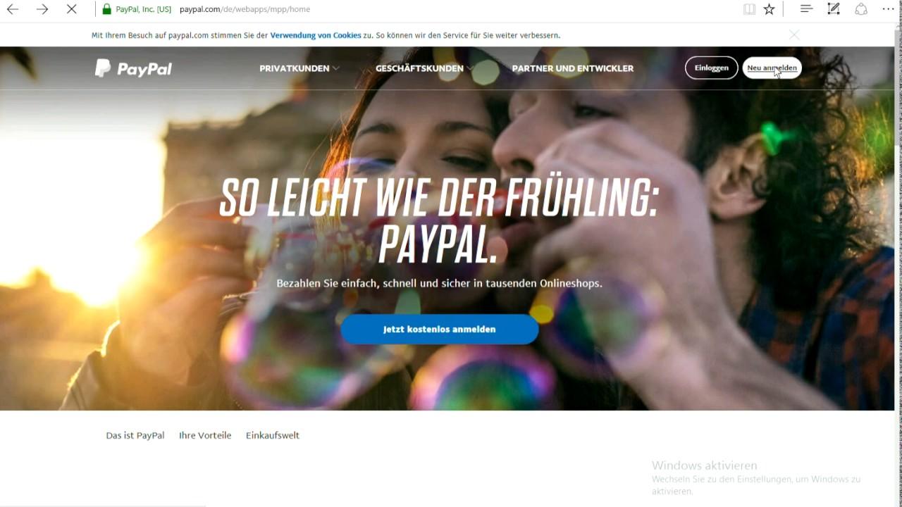 Paypalkonto Eröffnen