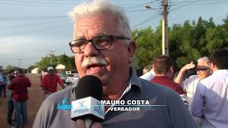 Mauro Costa destaca a importância da adutora para a comunidade