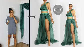 Making a Dress Out of Curtains (Easy Sewing!)