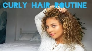 CURLY HAIR ROUTINE/everyday naturally curly hair