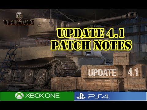 World of Tanks - Update 4.1 Patch Notes