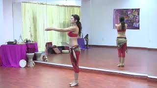 StepFlix Belly dance, level 1, basic step 15:  arms positions in bellydancing