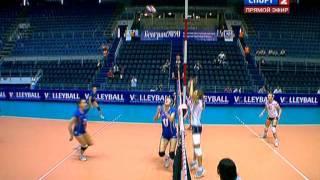 Волейбол  Чемпионат Европы 2011  Женщины  Группа А  Украина   Франция