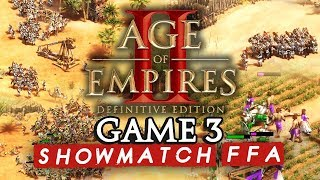Age of Empires II FFA : Game 3 (ShowMatch 2000€ Cash prize)