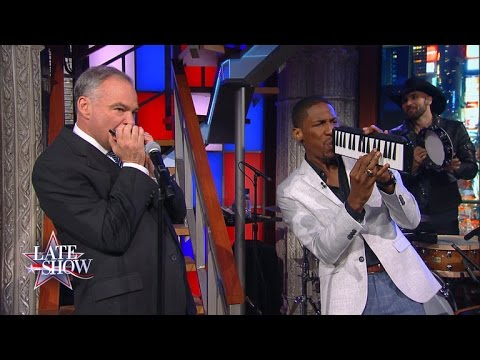 Tim Kaine Harmonica Jam with Jon Batiste and Stay Human