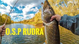 Лучший воблер для осенней щуки! O.S.P Rudra 130sp лучшая рыбалка на щуку 2019.