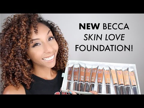 NEW Becca Skin Love Foundation Review + Wear Test! Foundation Friday! | BiancaReneeToday