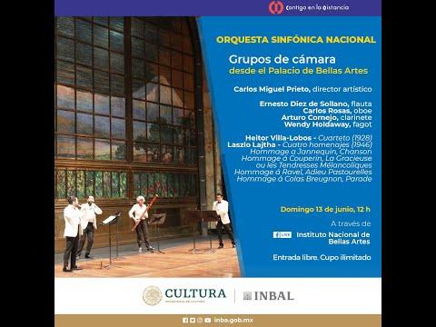 Grupos de cámara desde el Palacio de Bellas Artes / Orquesta Sinfónica Nacional / INBAL