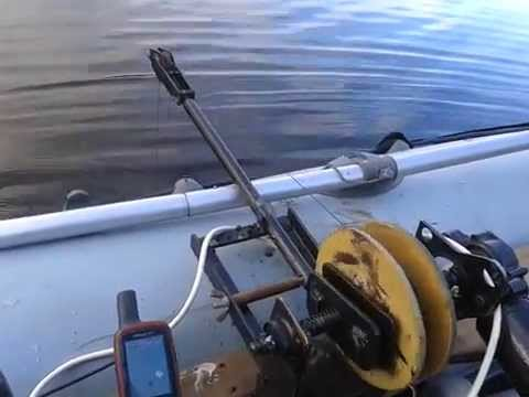 Якорная лебедка на лодку своими руками