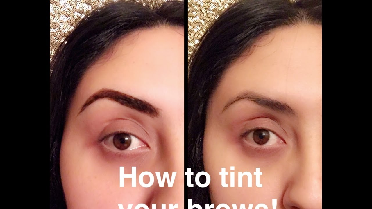 How to Tint your eyebrows at home with food coloring - YouTube