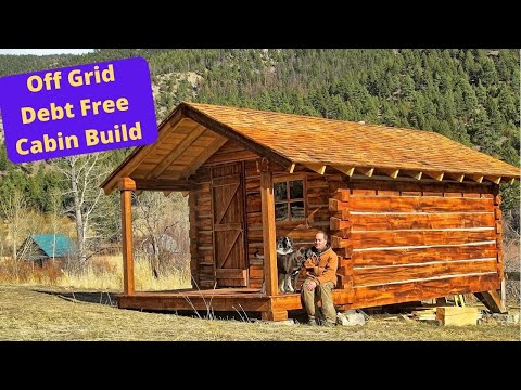 Log cabin build hd youtube for Building a cottage on a budget