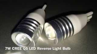 7w cree q5 led reverse light bulb