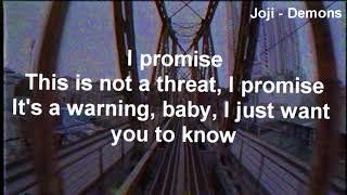 1 Hour Joji Chill Mix (Lyrics)