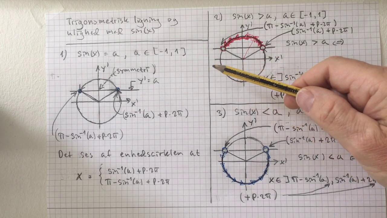 Trigonometrisk ligning og ulighed med sinus(x) - Jørgen Angelo