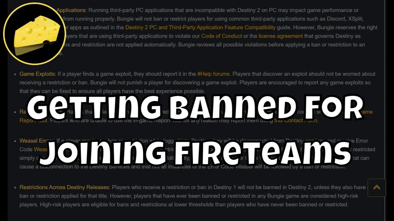 Getting Banned For Joining Fireteams - Steam Issue