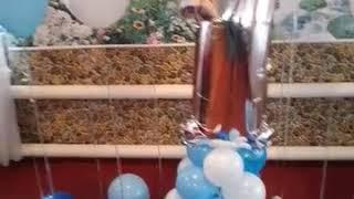 Шарики на годик .Как украсить годик  .Гелиевые шарики в Одессе , Подольске .Подарок ребенку .
