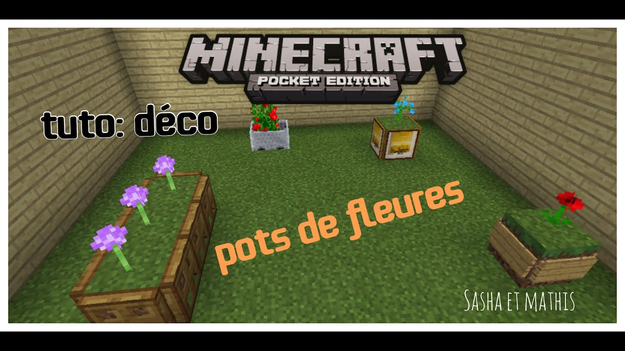 minecraft s rie1 tuto deco pisode 3 tuto pot de fleur. Black Bedroom Furniture Sets. Home Design Ideas