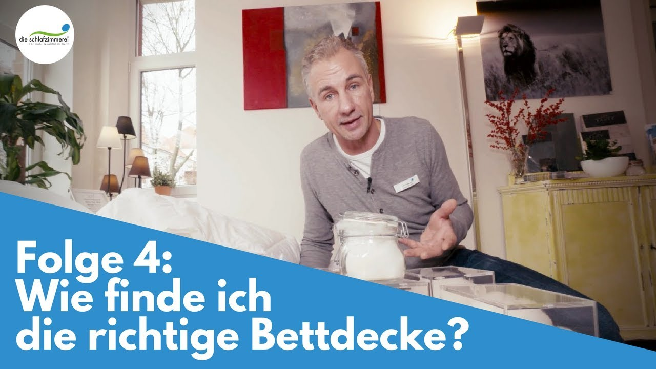 folge 4 wie finde ich die richtige bettdecke youtube. Black Bedroom Furniture Sets. Home Design Ideas
