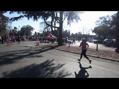 Traralgon finish line - Danni - Half Marathon