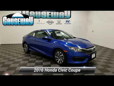 Certified 2016 Honda Civic Coupe LX, Manahawkin, NJ HGH310632