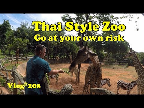 Vlog#208 Thailand Zoo, Go at your own risk! Korat Zoo