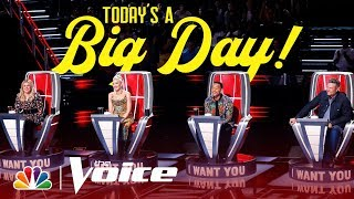 Coaches Kelly, John, Blake and Gwen Try to Get to The Voice Stage - The Voice 2019 (Exclusive)