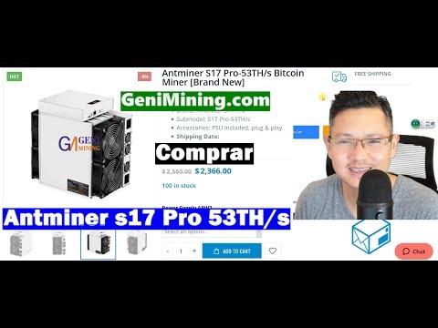 Compre Antminer s17 Pro 53TH/s Minera Rentable | GeniMining Envie a España/Venezuela/Colombia
