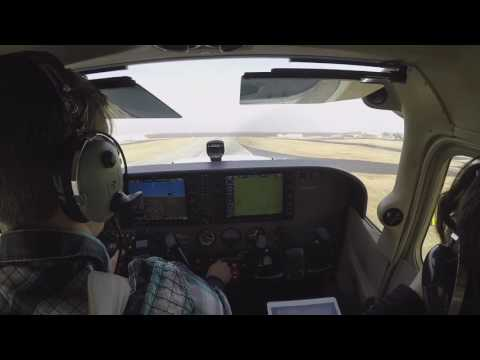 TULSA, Oklahoma Flight. Girlfriend and Grandmother's first GA flight. G1000 equipped Cessna.